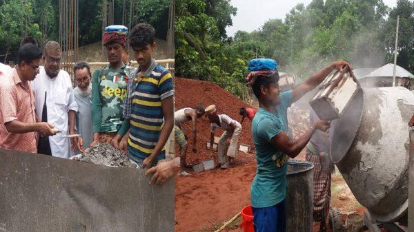 কুমারখালীর শেখপাড়া সরকারি প্রাথমিক বিদ্যালয়ের নতুন ভবনের ভিত্তি ঢালাই সম্পন্ন
