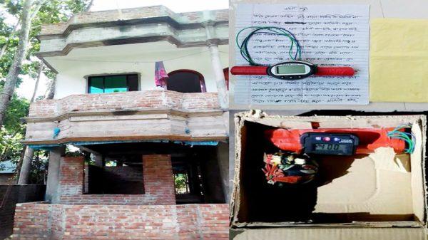 """ভেড়ামারায়  পৃথক দুটি বাড়িতে """"যমদূতের"""" লেখা চিঠি ও বোমা :  চাঁদা দাবি"""