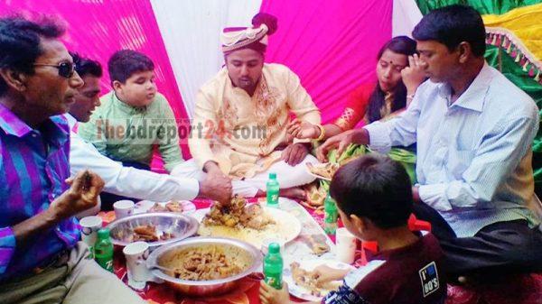 ভিন্নধর্মী সেই বিয়ের একদিন পর চুয়াডাঙ্গা হাজরাহাটিতে অনুষ্ঠিত হলো জমকালো বরভাত (ভিডিওসহ)