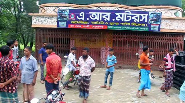 মেহেরপুরের গাংনীতে ইজিবাইক শো রুমে দু:সাহসিক চুরি