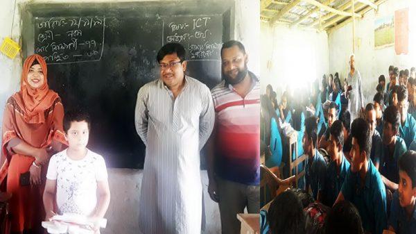 গাংনী ইউএনও'র লুৎফুন্নেছা মাধ্যমিক বিদ্যালয় পরিদর্শন