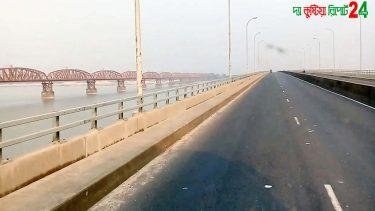 লালন শাহ্ সেতু । সেতু আর পদ্মার দু'পাড়ের সবুজে ঘেরা মনোরম সৌন্দর্য্য। Lalon Shah Bridge