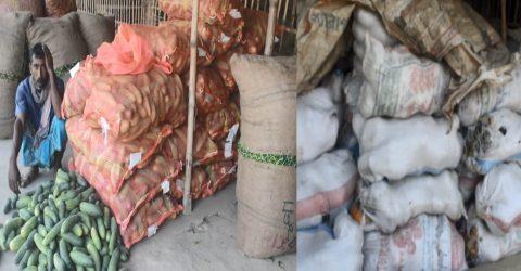 খলিসাকুন্ডি কাঁচা বাজারের সকল আড়ৎ বন্ধ রেখেছে ব্যবসায়ীরা