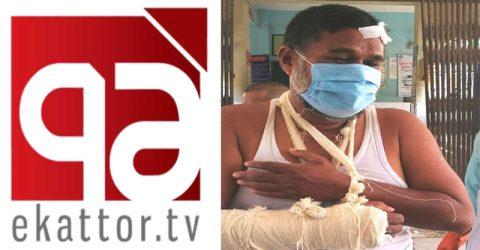 ৭১ টেলিভিশনের কুষ্টিয়া প্রতিনিধি শাহীন আলী দূর্ঘটনায় আহত