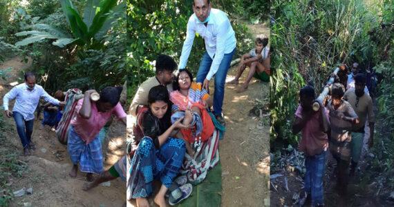 রাঙ্গামাটির সাজেকে '৯৯৯' এর মাধ্যমে কল পেয়ে পাহাড় থেকে পড়ে যাওয়া পর্যটক উদ্ধার